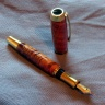 0054 - Curly Koa Gent Titanium Gold Fountain Pen